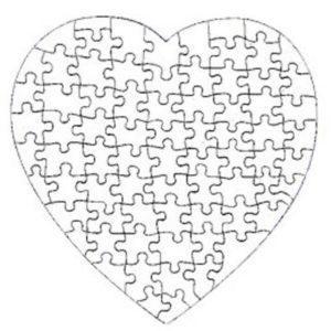 Puzzle Srce – Slika po vaši izbiri