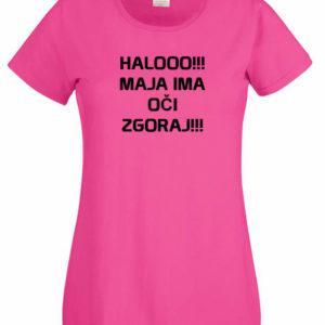 Ženska majica – Halooo Maja ima oči zgoraj
