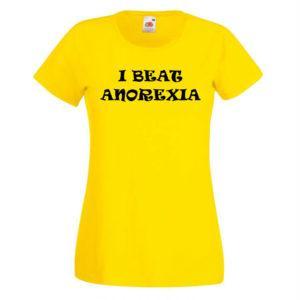 Ženska majica – I beat anorexia