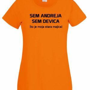 Ženska majica – Sem Andreja sem devica