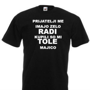 Moška majica – Prijatelji me imajo zelo radi