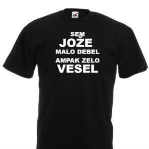 Moška majica – Sem Jože malo debel ampak zelo vesel