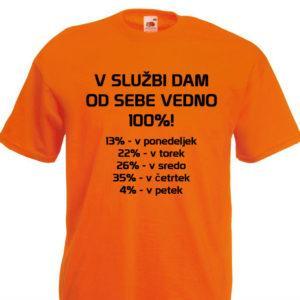 Moška majica – V službi dam od sebe vedno 100%